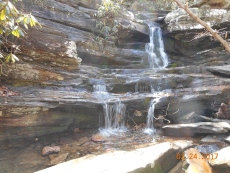 Waterfalls in Hanging Rock State Park, NC