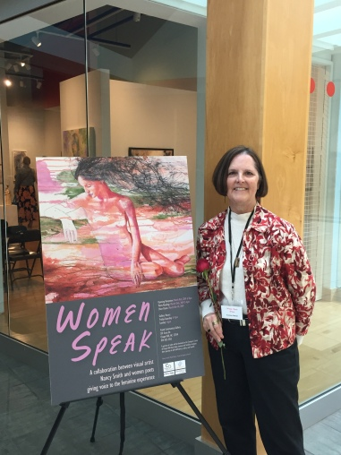 "Suzanne Cottrell, author of ""Altered Silhouette"" associated with Nancy L. Smith's mixed media collage, ""Twilight Reflection"""